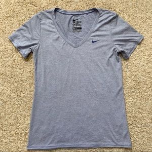 Nike Dry Fit V-neck Blue Stripes | S